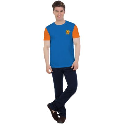Gujarat Lions Fan Jersey - Orange Blue