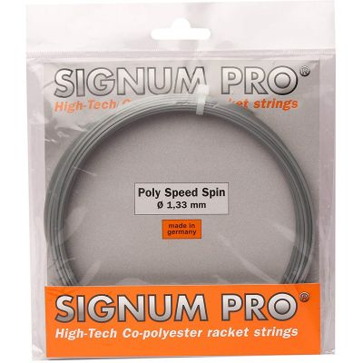 Signum Pro Poly Speed Spin 16 String Set (12 m) - Silver