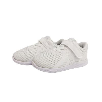 Nike Revolution 4 School Shoe - 8C To 10C - White